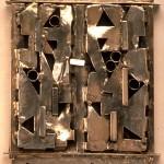 "Resia Schor, Mezuzah, 1985, silver, c.5""x4""x1"""