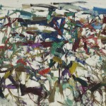 "Ladybug Joan Mitchell (1925-1992), Ladybug, 1957. Oil on canvas, 6' 5 7/8"" x 9' (197.9 x 274 cm). Purchase. © Estate of Joan Mitchell"