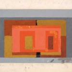 Josef Albers, Variant / Adobe, ca. 1947, Oil on blotting paper, 48.2 x 61.4 cm.