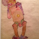 Egon Schiele, Newborn Baby, 1910. Watercolor and pencil on tan wove paper. Galerie St. Etienne