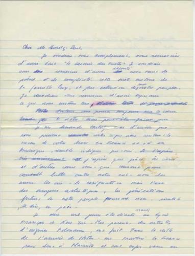 Year-Naomi-Schor-Letter-to-SchwartzBart-60-61-p1