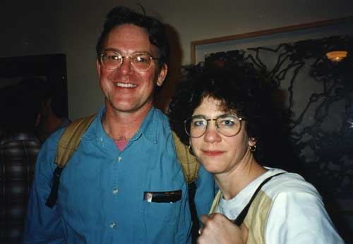Brad Freeman and Johanna Drucker, 1996.