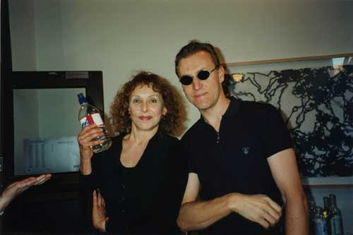 Carolee Schneemann and David Humphrey, June 1996.