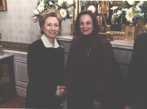 """It was the Future- Hillary and Mom,"" 1996."