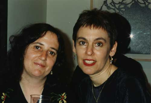 Susan and Mira, M/E/A/N/I/N/G party June 1996