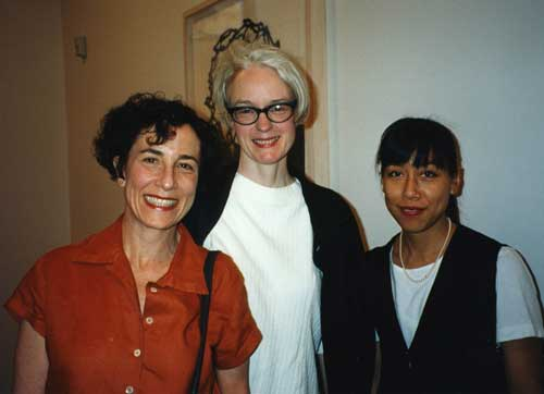 l. to r., NIna Felshin, Maureen Connor, and Emily Chen, M/E/A/N/I/N/G party June 1996